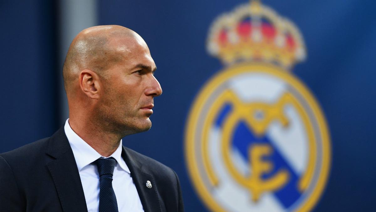 Zinedine Zidane, en la final de La Undécima en Milán. (Getty)