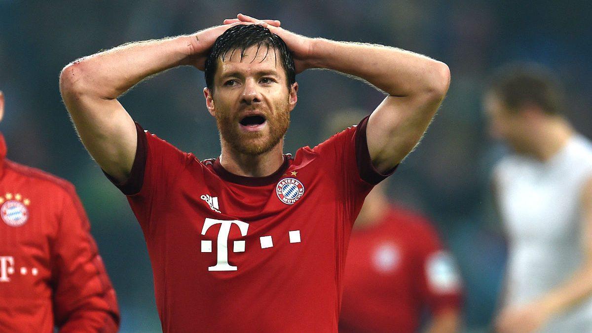 Xabi Alonso, en un partido del Bayern. (Getty)