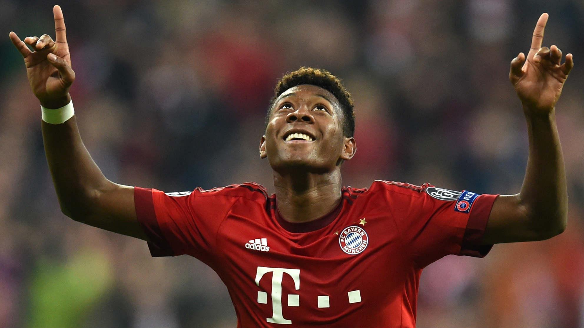 Alaba celebra un gol con el Bayern. (AFP)