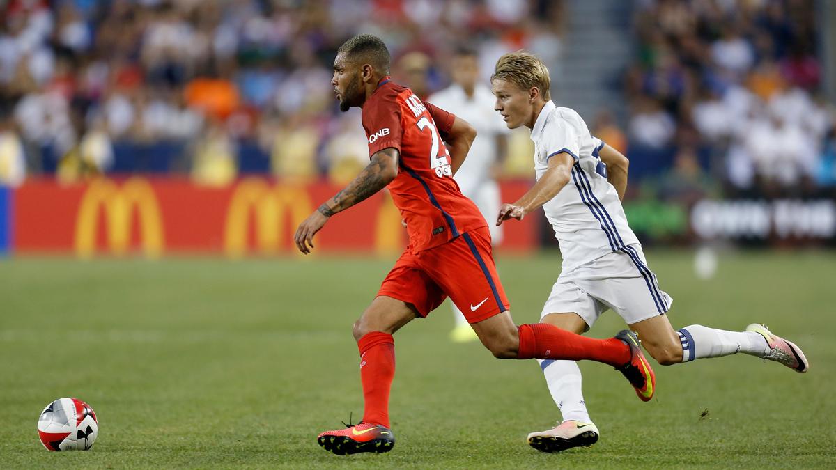 Odegaard, durante el amistoso contra el PSG de esta pretemporada.