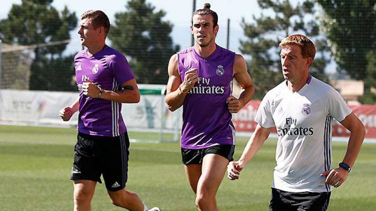 Bale y Kroos vuelven a los entrenamientos. (Realmadrid.com)