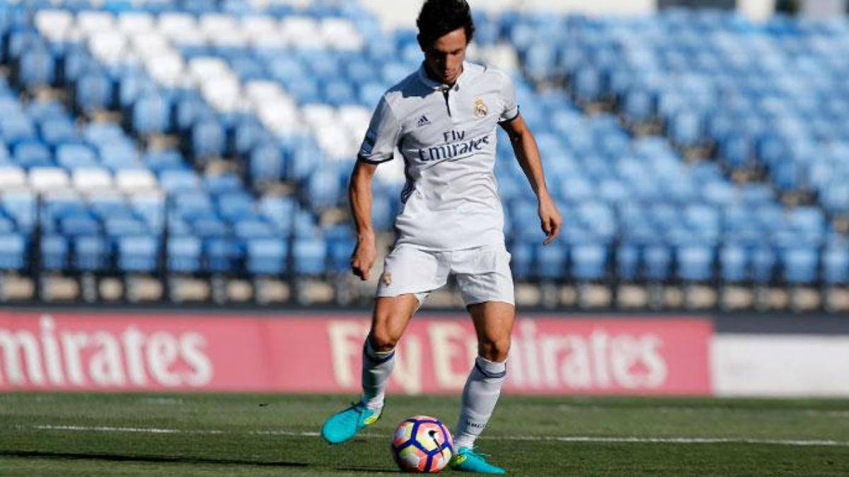 Borja Sánchez en un partido con el Castilla. (Realmadrid.com)