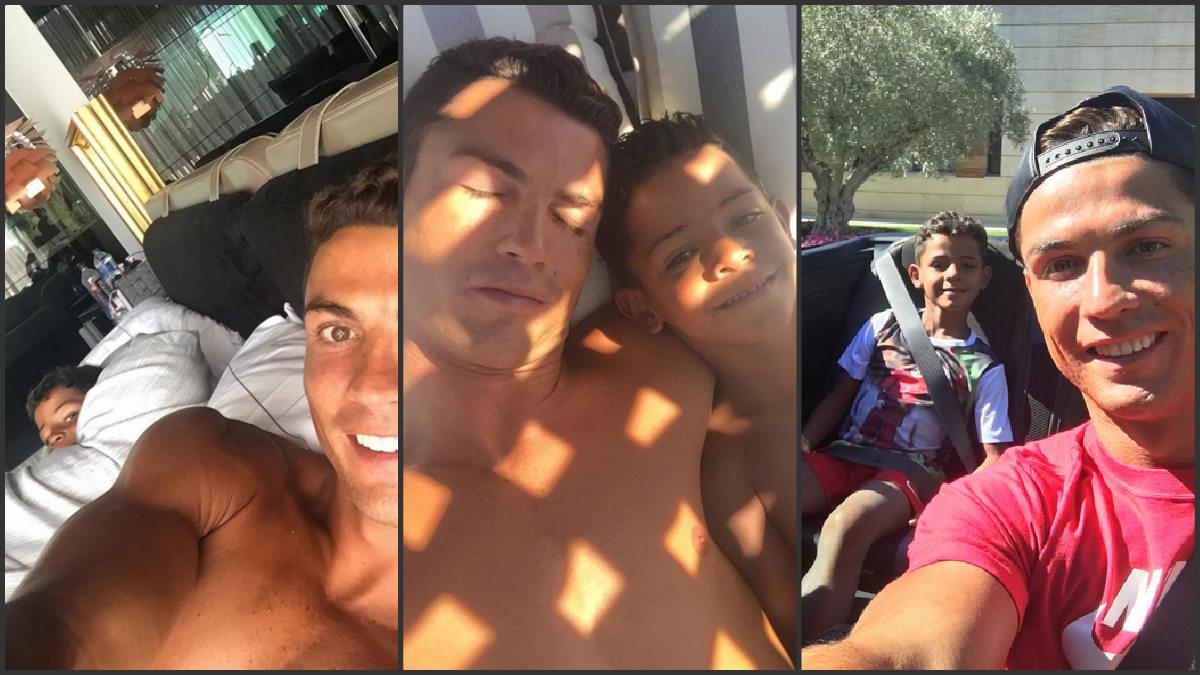 Varias imágenes de Cristiano Ronaldo junto a su hijo en las últimas 24 horas.