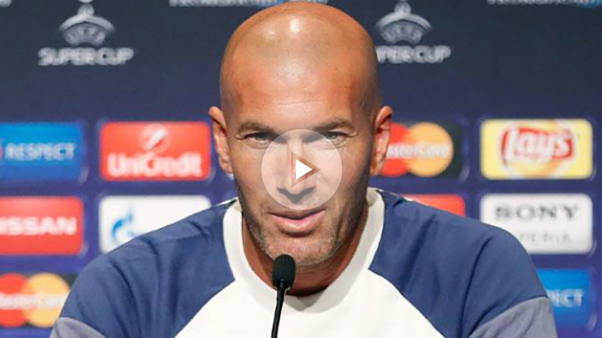 Zidane, en la rueda de prensa previa a la Supercopa de Europa. (realmadrid.com)