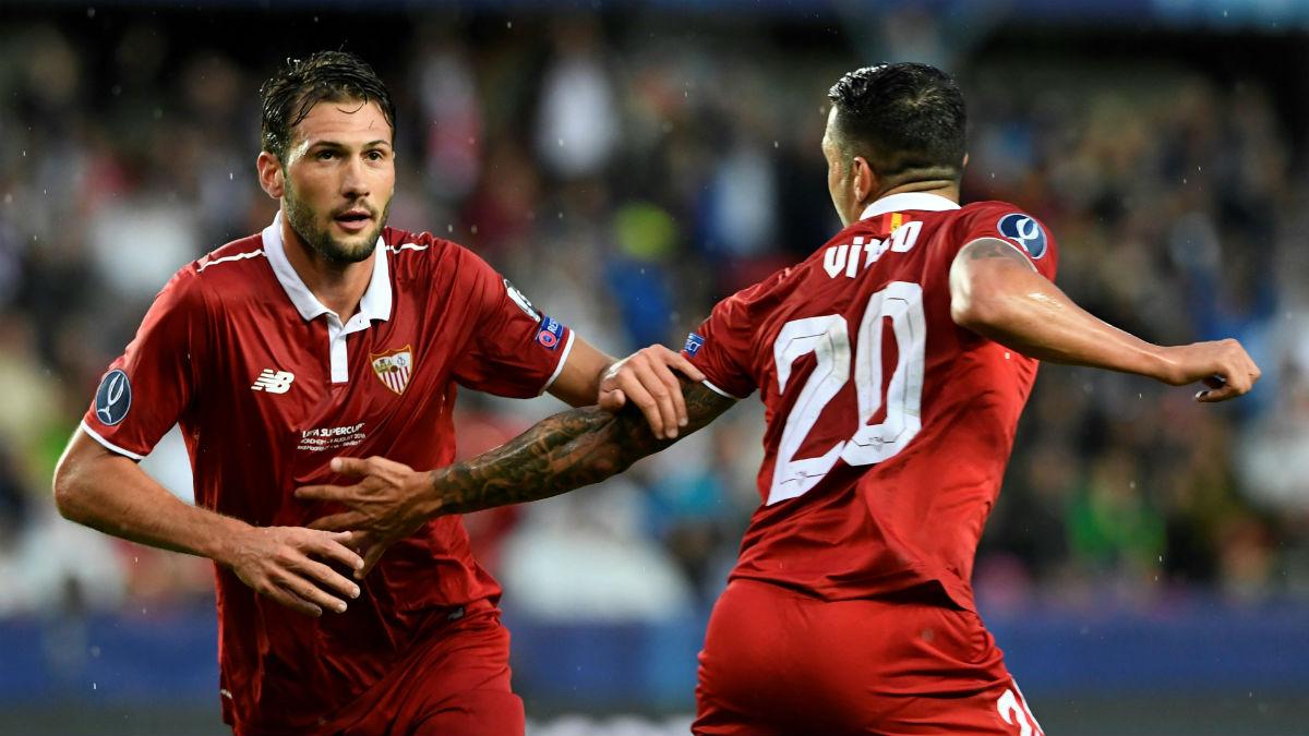 Vázquez celebra el gol ante el Real Madrid. (Getty)