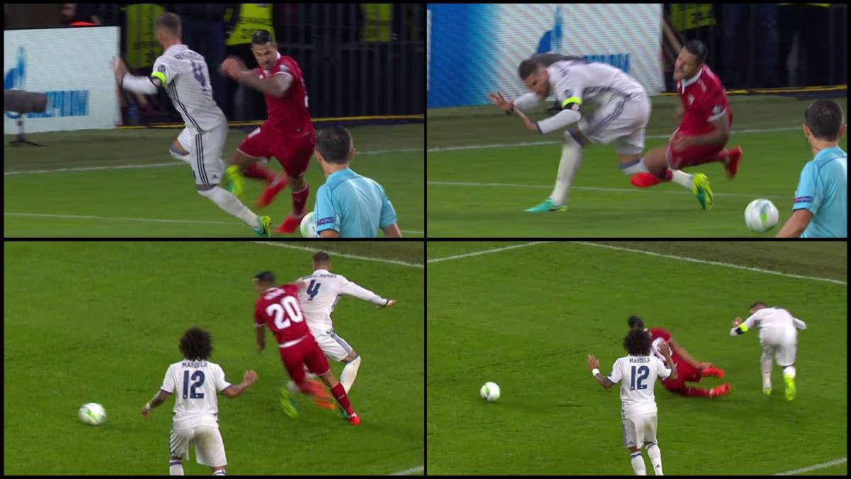 Mazic pitó penalti de Ramos sobre Vitolo.