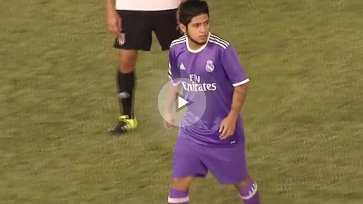 Sergio Díaz hizo la jugada del partido ante el Mérida.