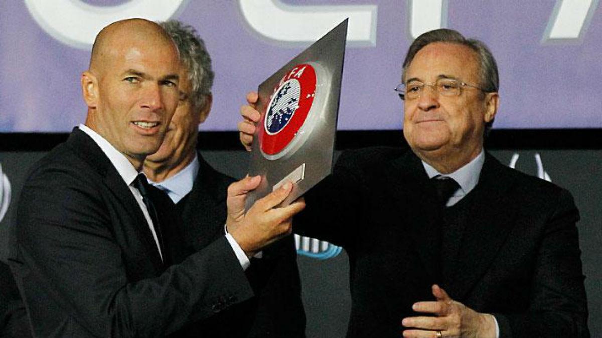 Florentino Pérez y Zinedine Zidane. (Realmadrid.com)