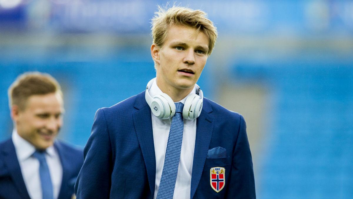 Odegaard, antes de un partido con Noruega. (AFP)