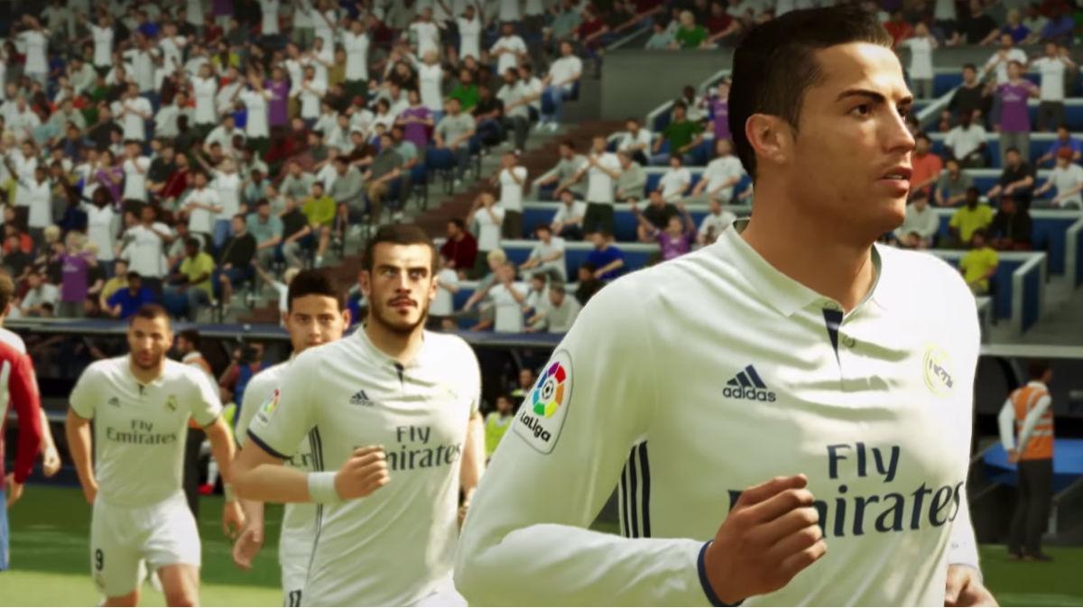 Los jugadores del Real Madrid en el FIFA 17.