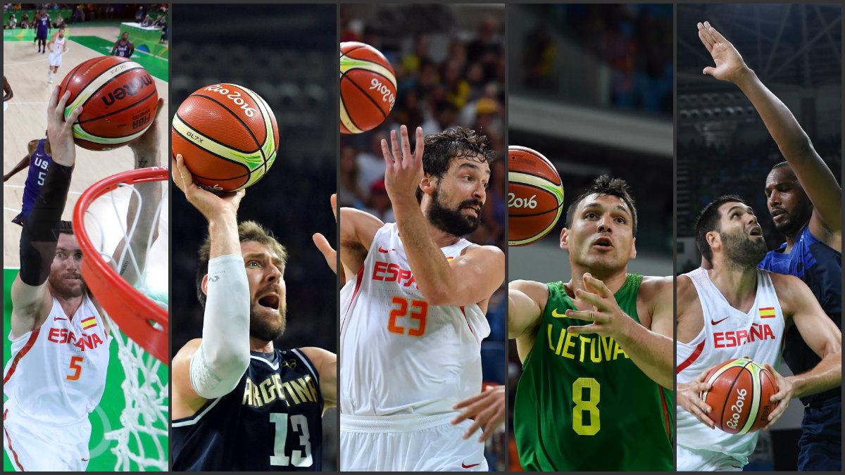 Los jugadores del Real Madrid en los Juegos Olímpicos.