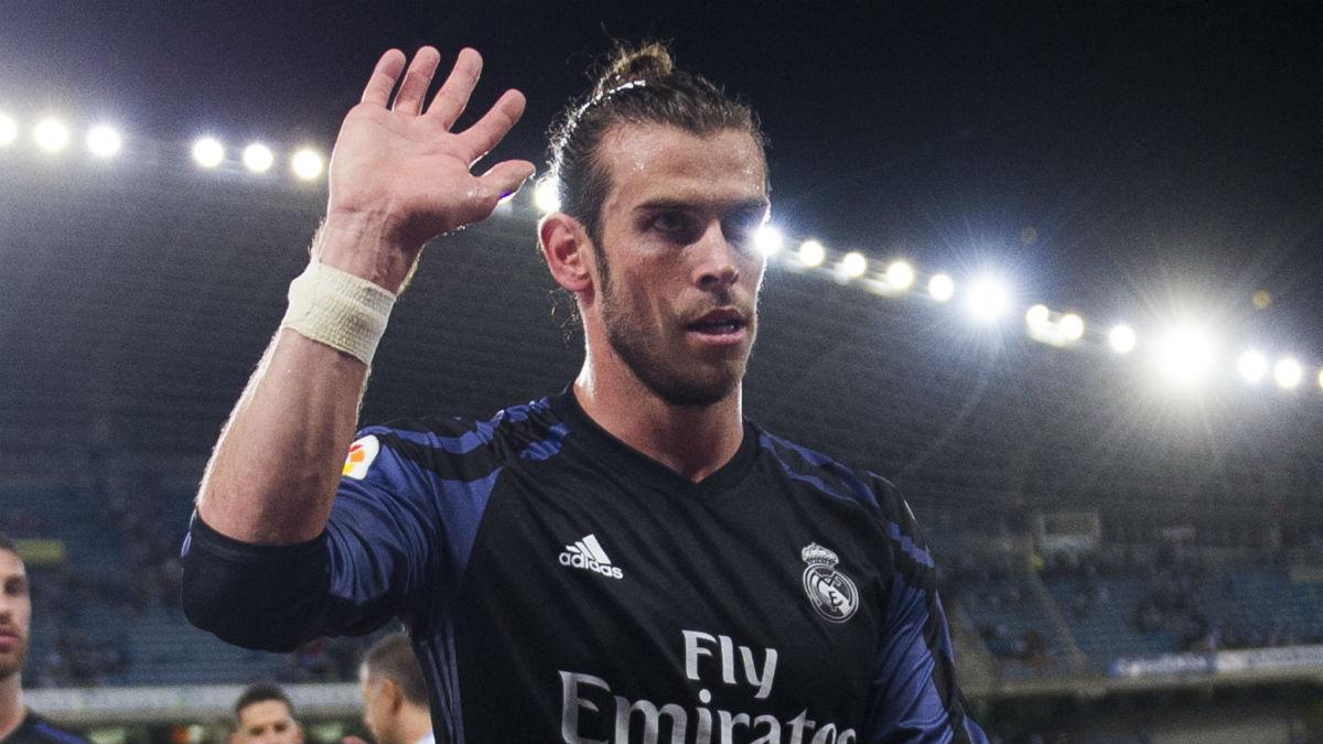 Bale, tras el partido de Anoeta. (Getty)