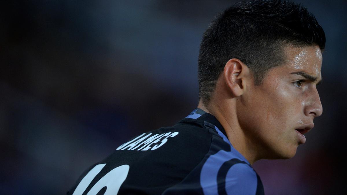 James, durante el partido contra la Real Sociedad.