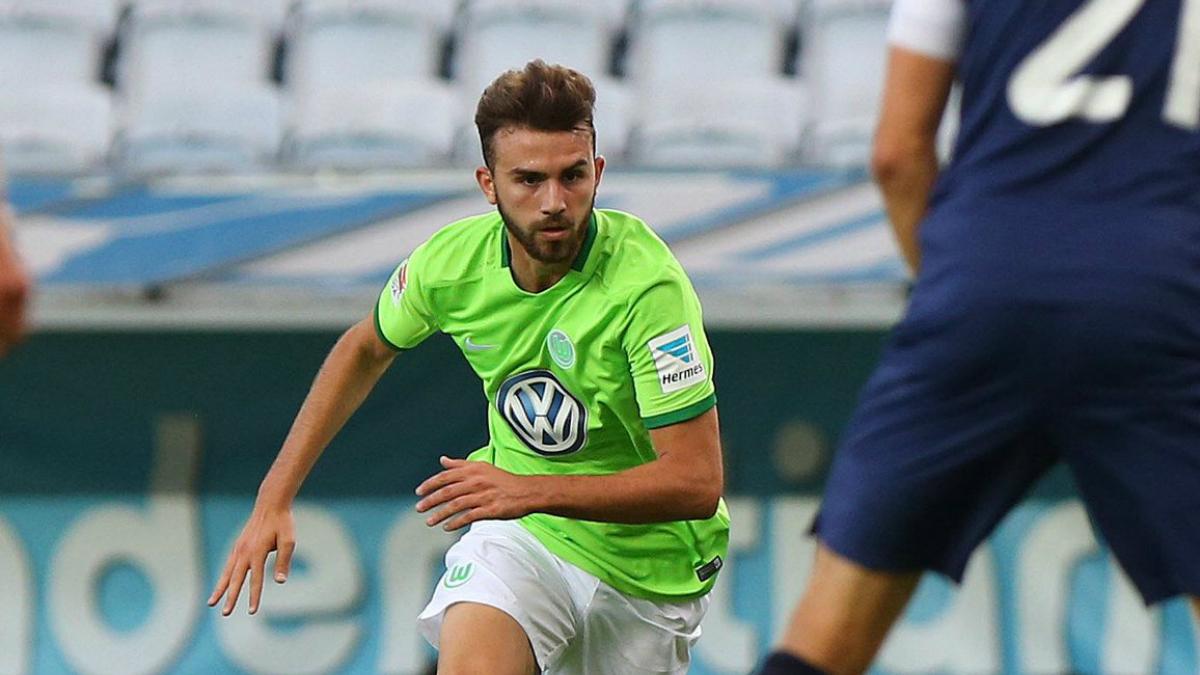 Borja Mayoral, en un partido con el Wolfsburgo. (Twitter)