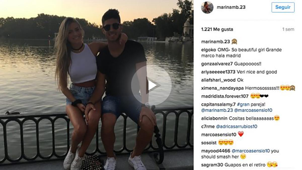 La novia de Marco Asensio causa sensación en las redes. (Instagram)