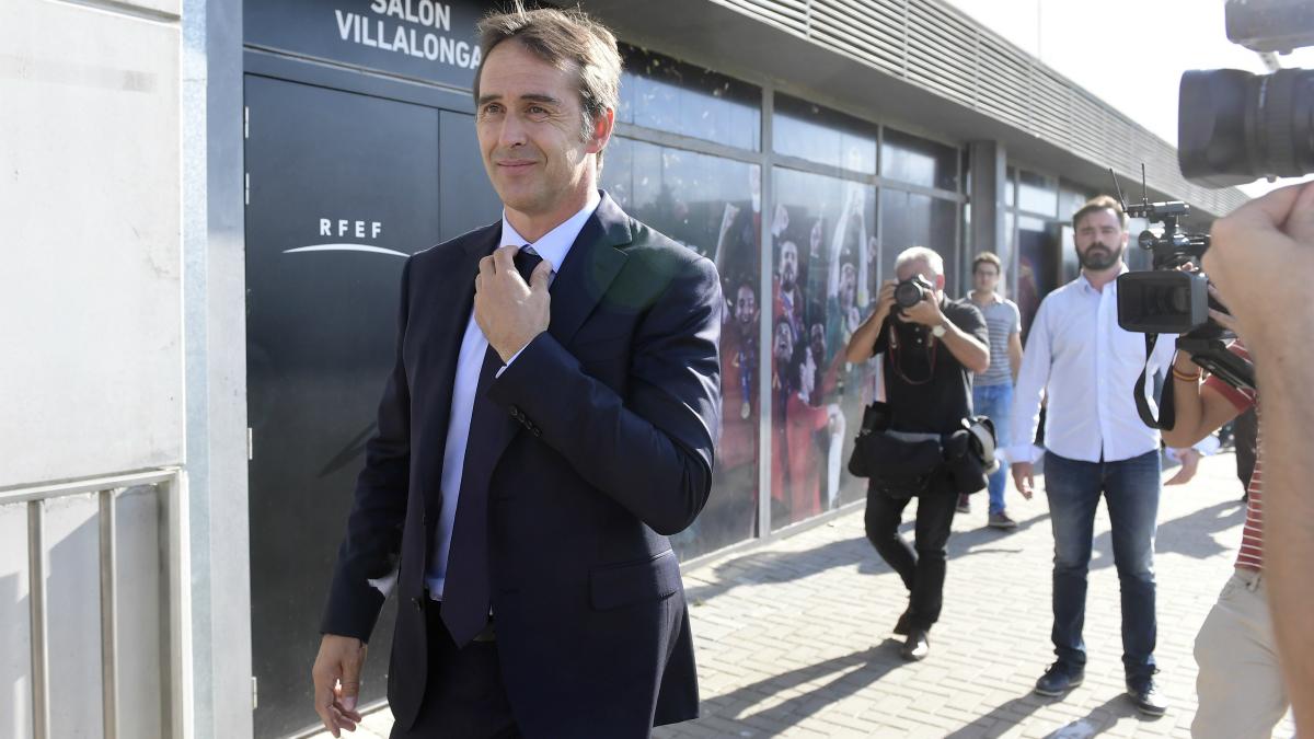 Julen Lopetegui, tras su elección como seleccionador. (AFP)
