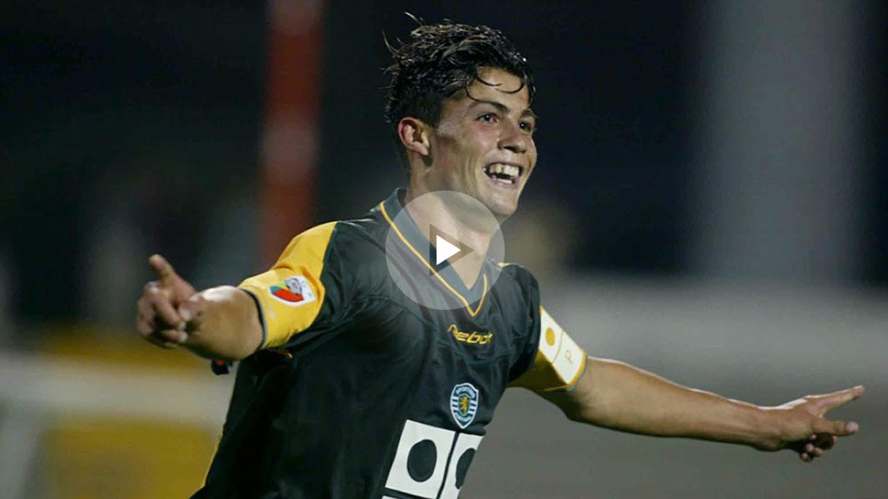 Cristiano Ronaldo celebra un gol con el Sporting de Lisboa.