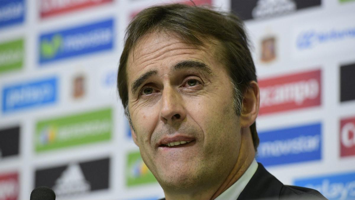 Julen Lopetegui, seleccionador nacional de España. (AFP)