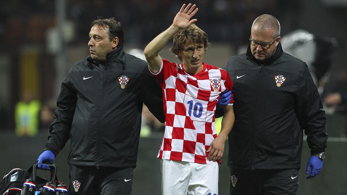 La última lesión grave de Modric fue con la selección croata.