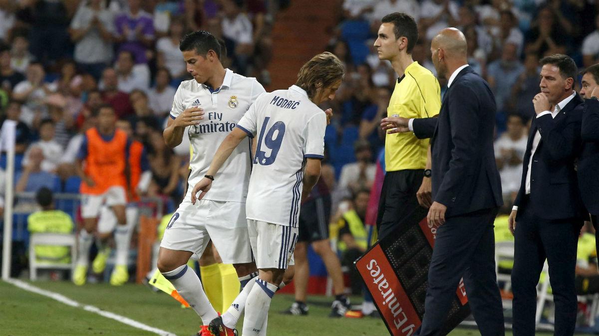 James Rodríguez pudo jugar su último partido con el Real Madrid. (EFE)
