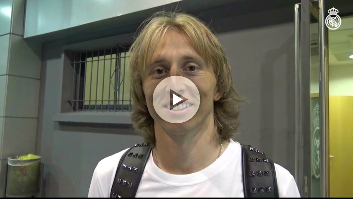 Luka Modric es uno de los jugadores más queridos de la afición del Real Madrid.