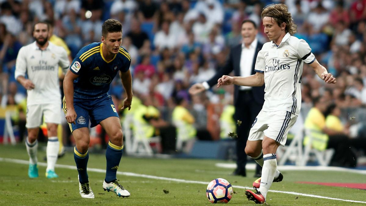 Luka Modric, en el partido contra el Celta. (Getty)