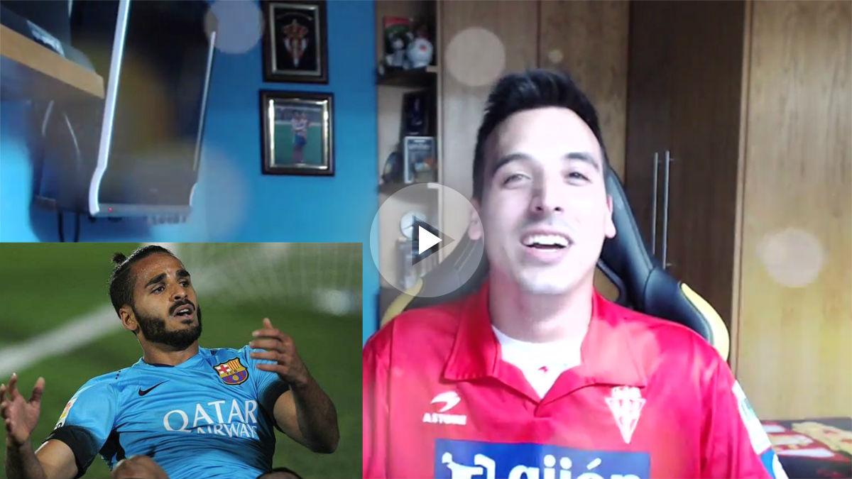 El 'youtuber' del Sporting que hace viral una canción de Douglas.