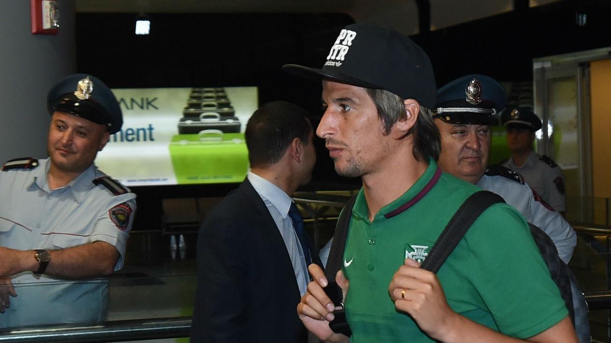 Fabio Coentrao, en un viaje con Portugal. (Getty)