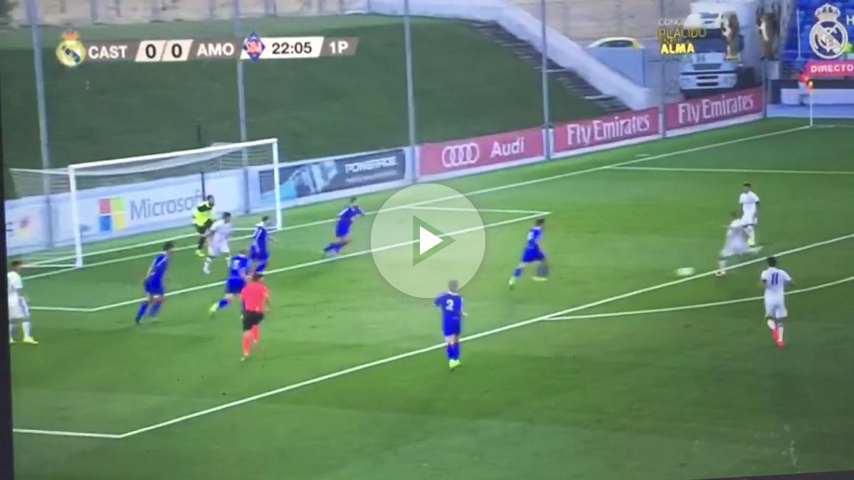 Federico Valverde hace su primer gol como madridista.