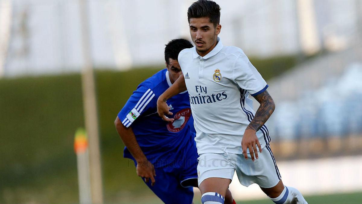Cristian Cedrés durante un partido con el Castilla. (Realmadrid.com)