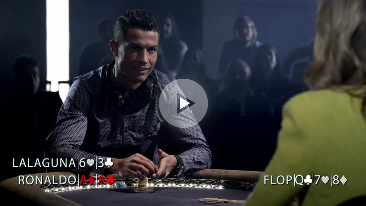Cristiano ganó al póker y realizó su popular grito.
