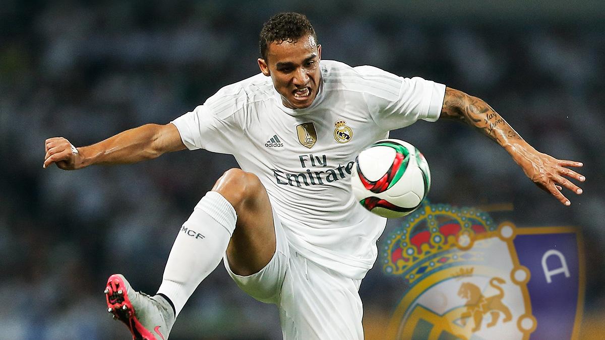 Danilo, durante un partido con el Real Madrid.