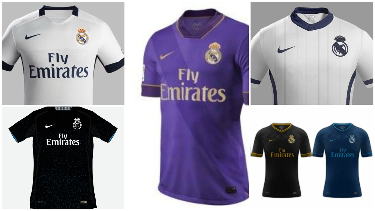 Así sería la camiseta del Real Madrid si la diseñara Nike cff6ca4683365