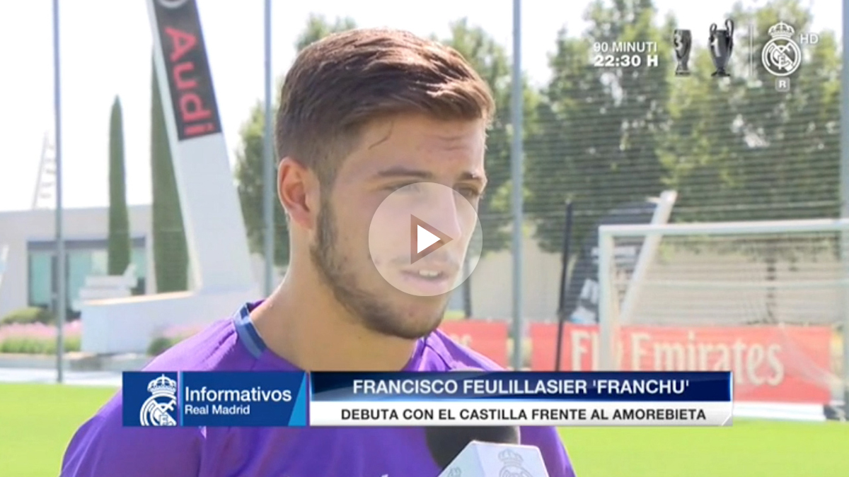 Franchu, feliz tras debutar con el Castilla.