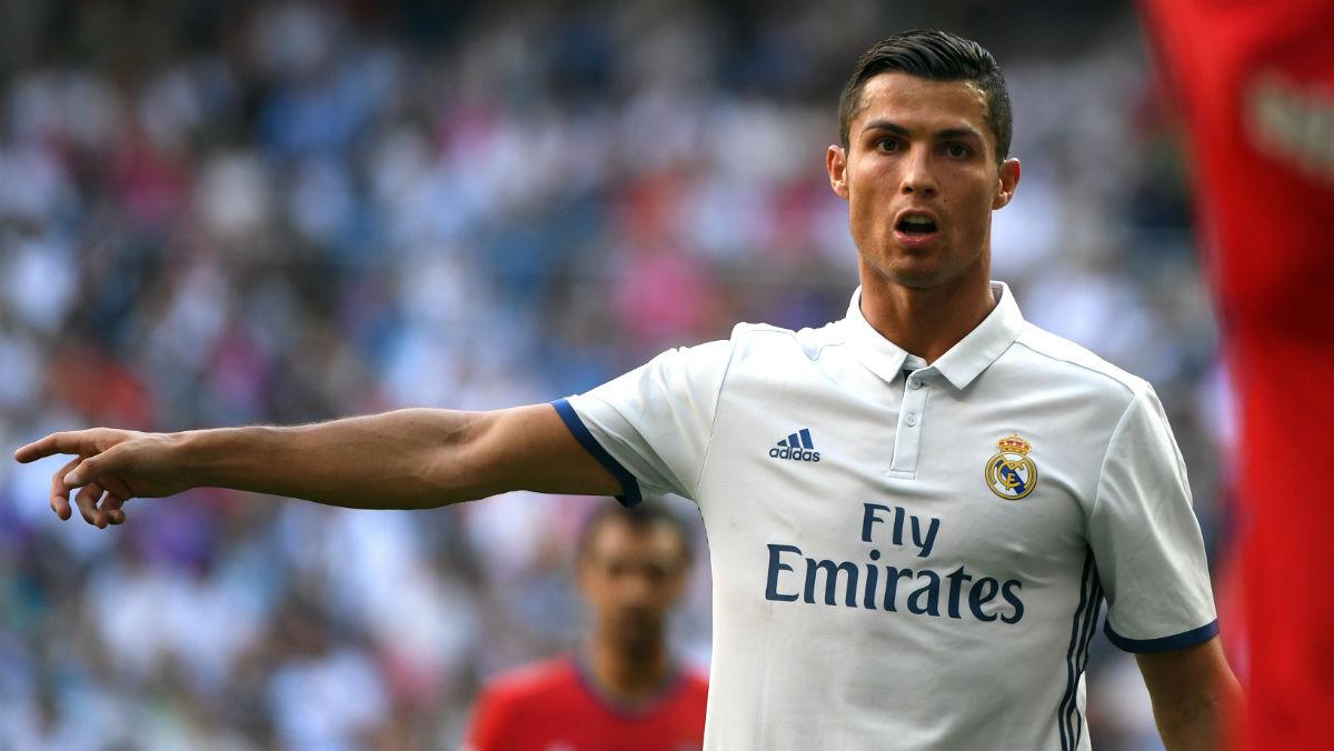 Cristiano Ronaldo, en el partido contra Osasuna. (AFP)