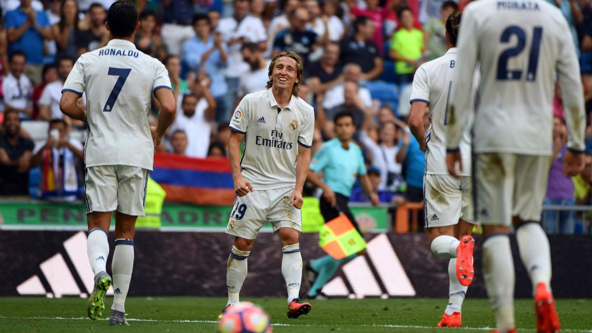 Modric brilló contra Osasuna. (AFP)