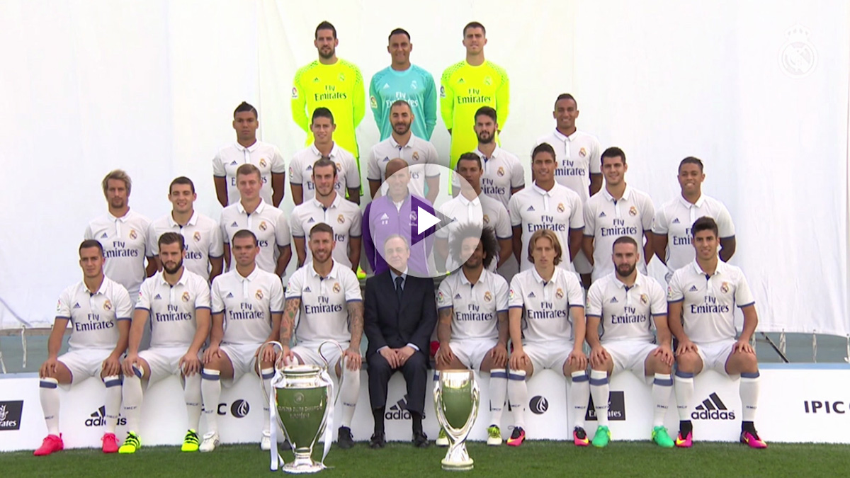 Un equipo para enmarcar: así se hizo la foto oficial de la plantilla del Real Madrid 2016-17