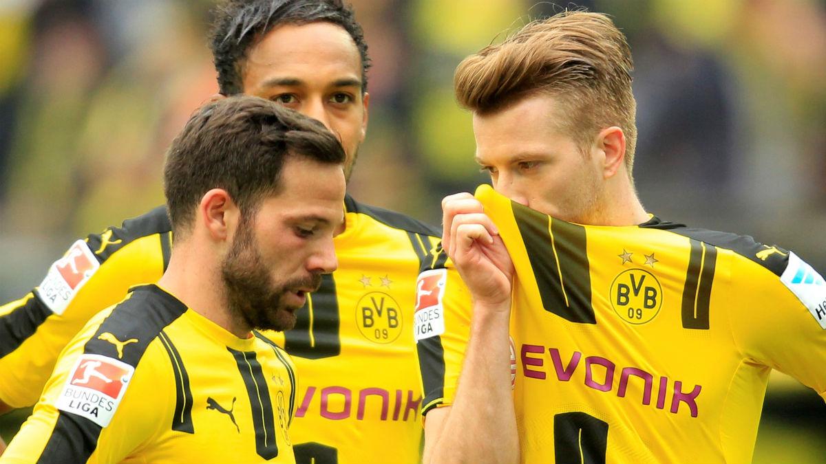 Marco Reus, en un partido del Dortmund. (Getty)