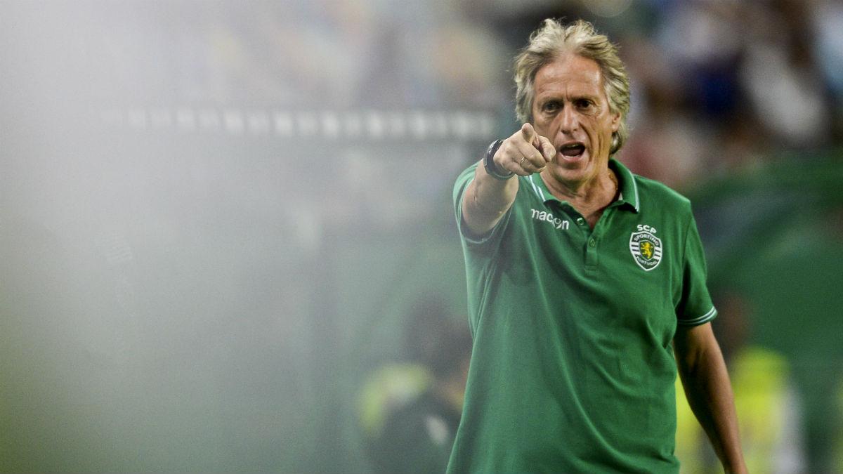 Jorge Jesús, en un partido con el Sporting de Lisboa. (AFP)