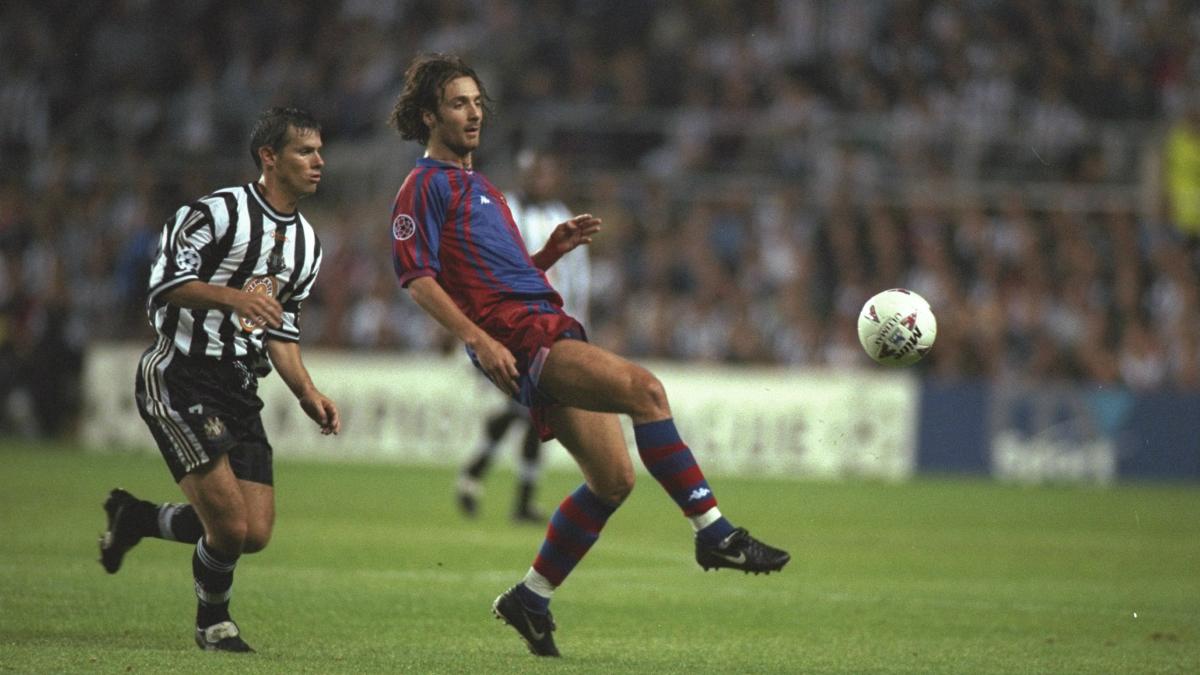 Dugarry, en su etapa como jugador del Barcelona. (Getty)