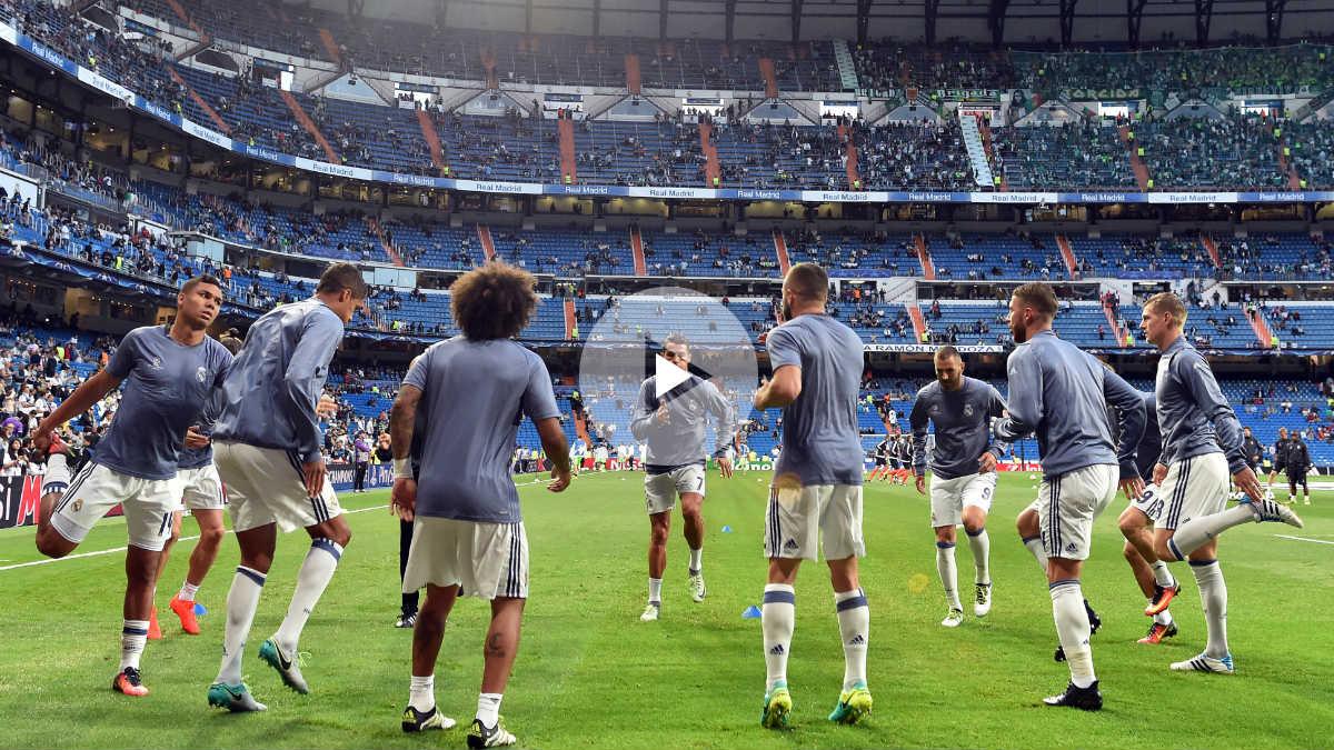 El Bernabéu ovacionó a los jugadores su regreso a la Champions