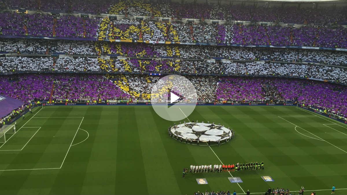 El Bernabéu vibró con el himno de la Champions League