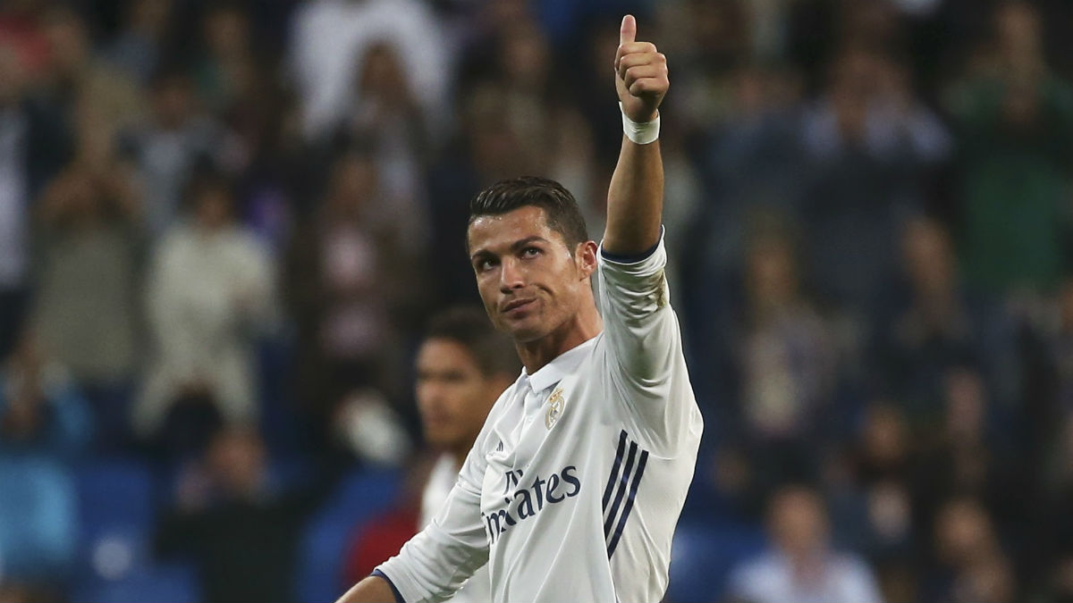 Cristiano Ronaldo, tras la victoria ante el Sporting. (Reuters)