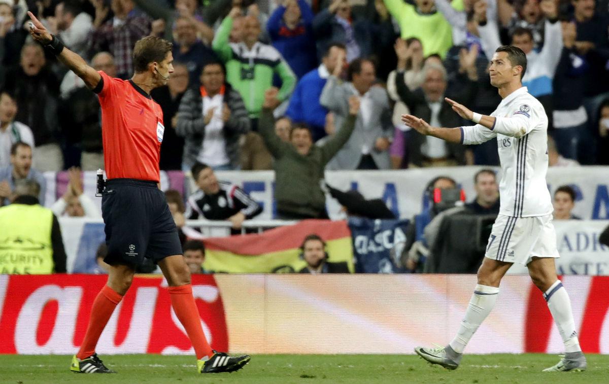 Cristiano Ronaldo, tras marcar al Sporting. (EFE)