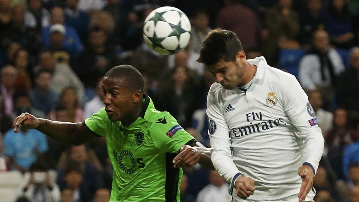 Morata dio la victoria al Real Madrid ante el Sporting con este cabezazo.