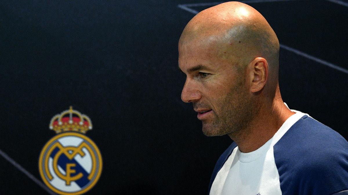 Zidane, en rueda de prensa. (AFP)