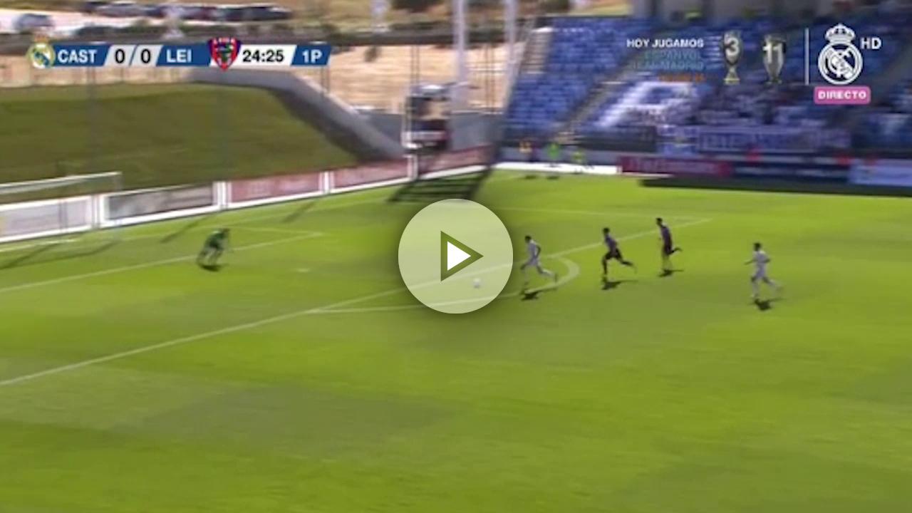 ¡Vaya paradón de Iturrioz para evitar el gol Valverde!