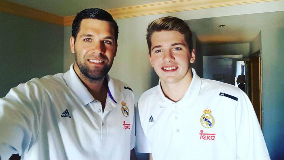 Felipe Reyes y Luka Doncic, compartiendo habitación en Málaga.