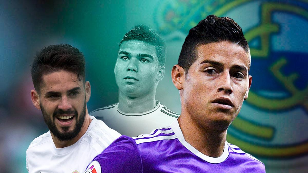 James Rodríguez e Isco opositan a ser titulares con la baja de Casemiro.