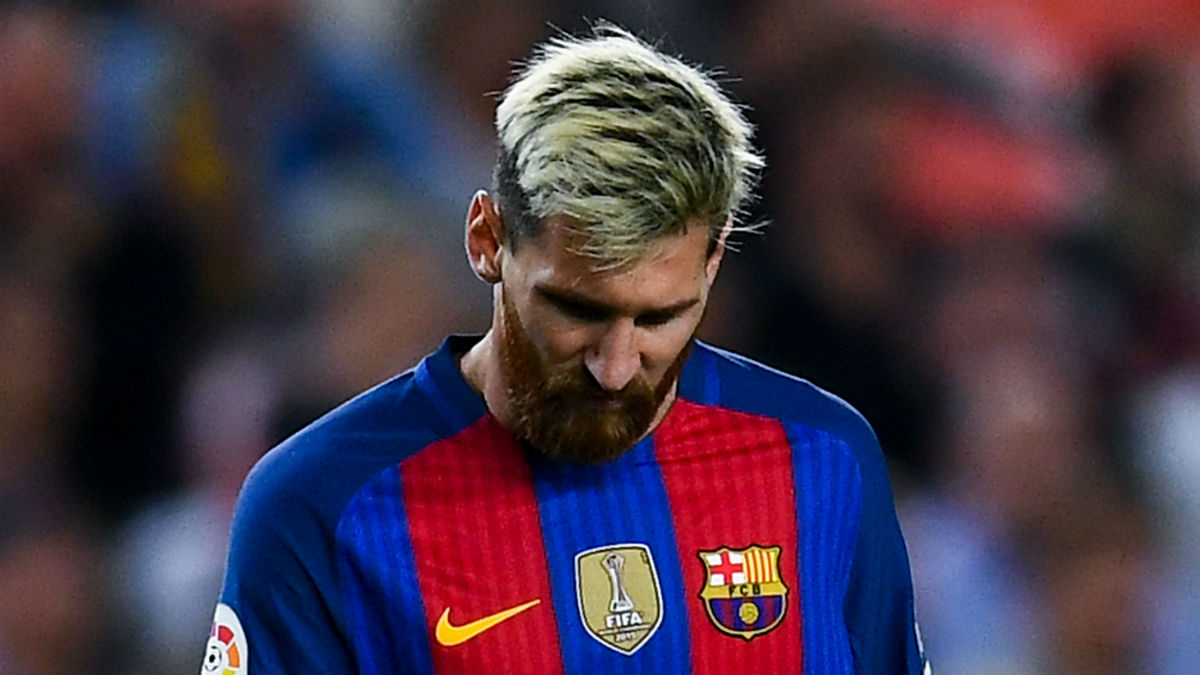 Leo Messi se lesionó contra el Atlético. (Getty)